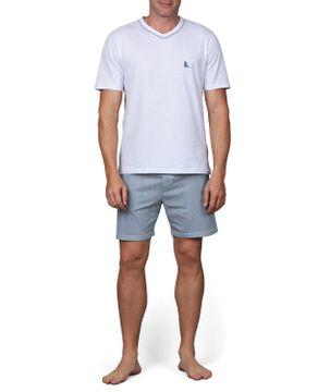Pijama-Masculino-Lua-Cheia-Bermuda-Malha-Listras