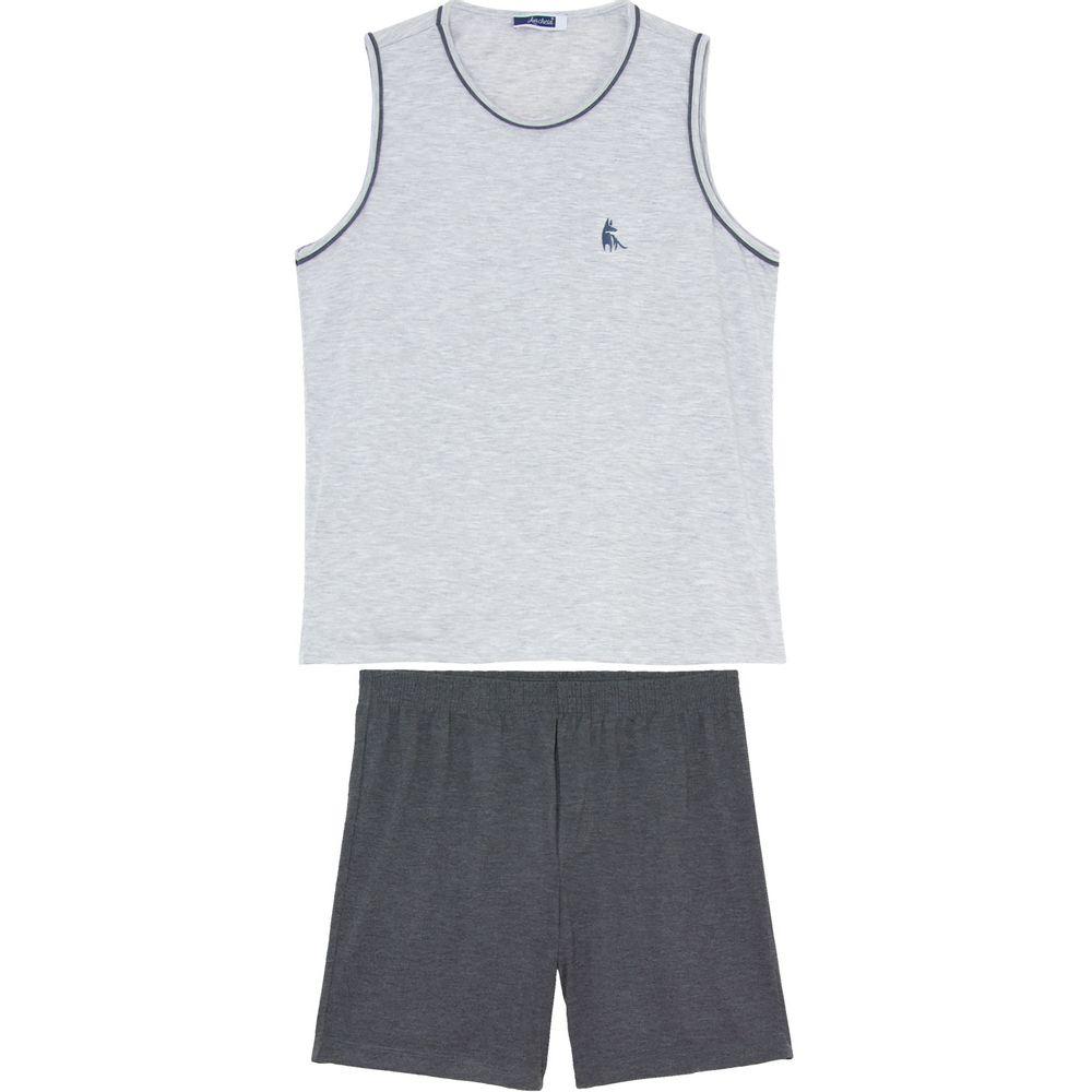 Pijama-Masculino-Lua-Cheia-Regata-Bermuda-Malha-Mescla