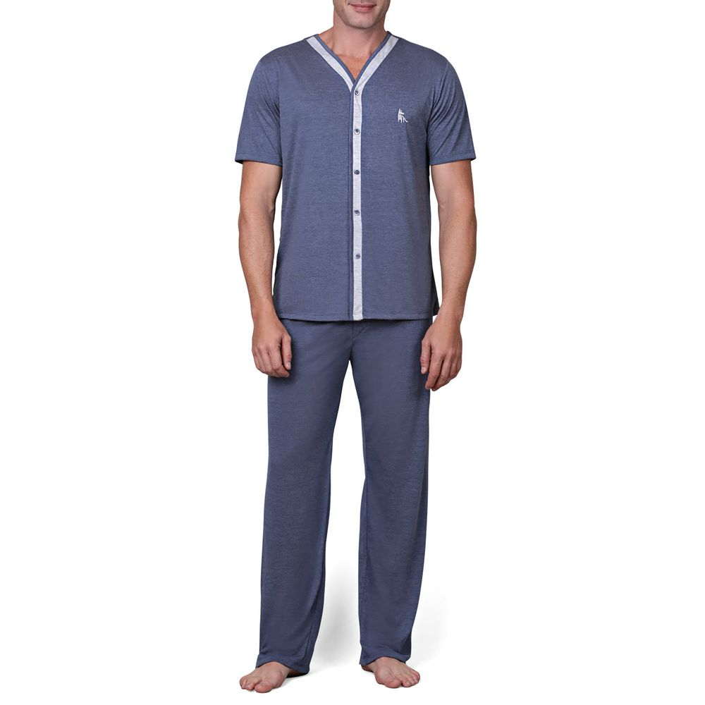 Pijama-Masculino-Lua-Cheia-Aberto-Manga-Curta-e-Calca