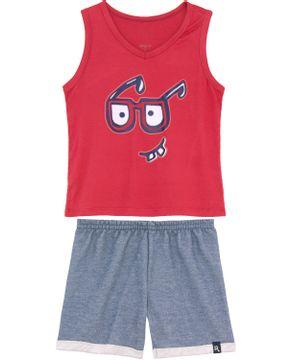 Pijama-Infantil-Masculino-Recco-Viscolycra-Regata-Oculos