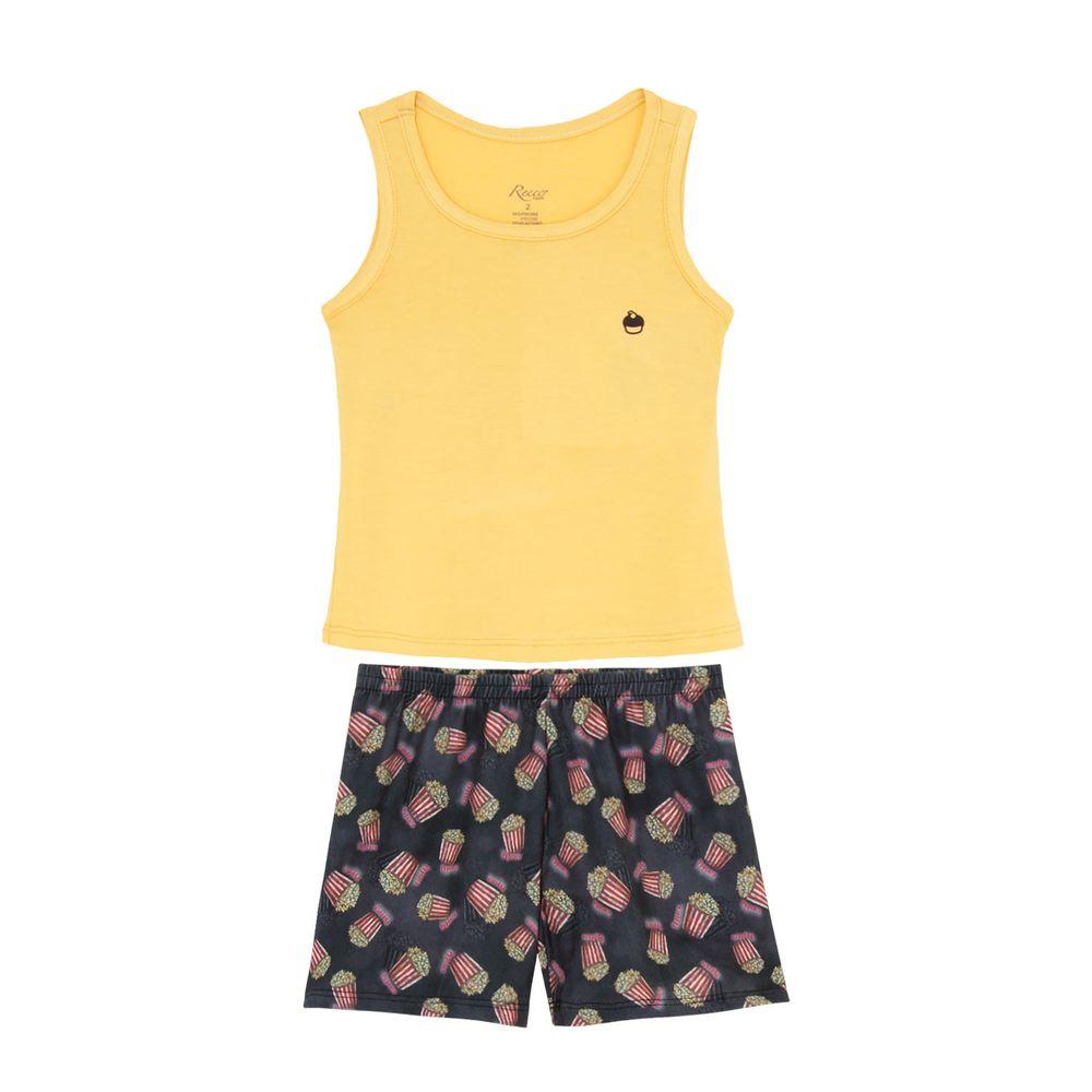 Shortdoll-Infantil-Recco-Regata-Viscolycra-Pipoca