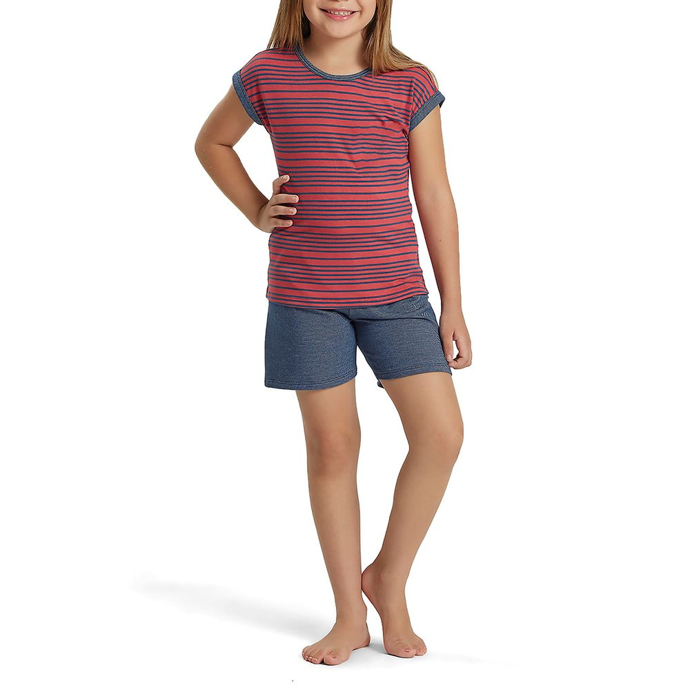 Shortdoll-Infantil-Recco-Viscolycra-Jeans-Listras