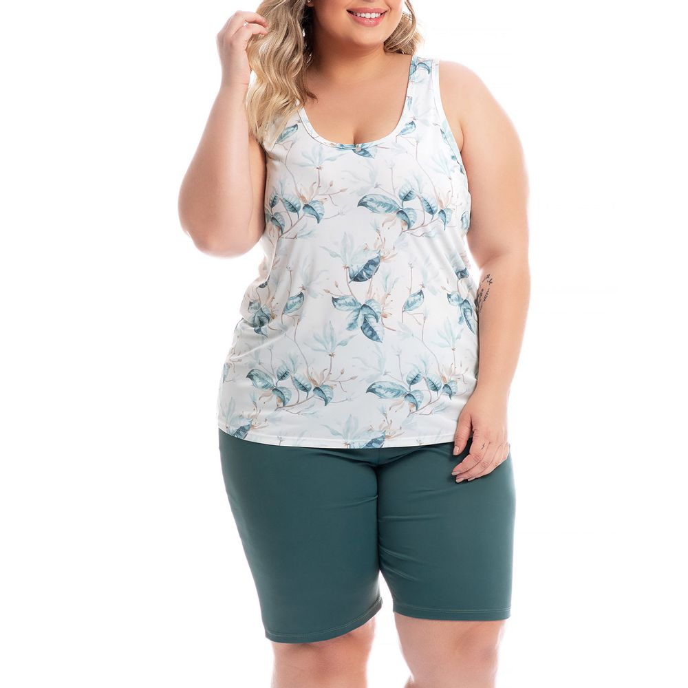 Bermudoll-Plus-Size-Daniela-Tombini-Malha-Fria-Folhas