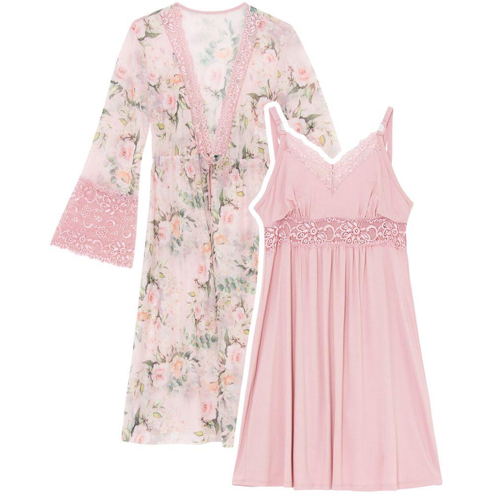 Camisola-com-Robe-Recco-Viscolycra-Renda-Tule-Floral