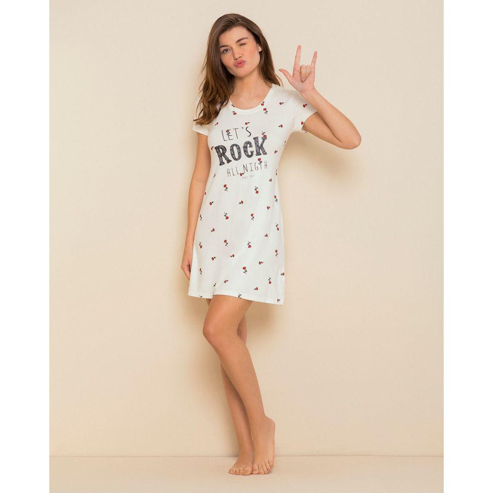 Camisola-Any-Any-Visco-Premium-Rosas-Let-s-Rock