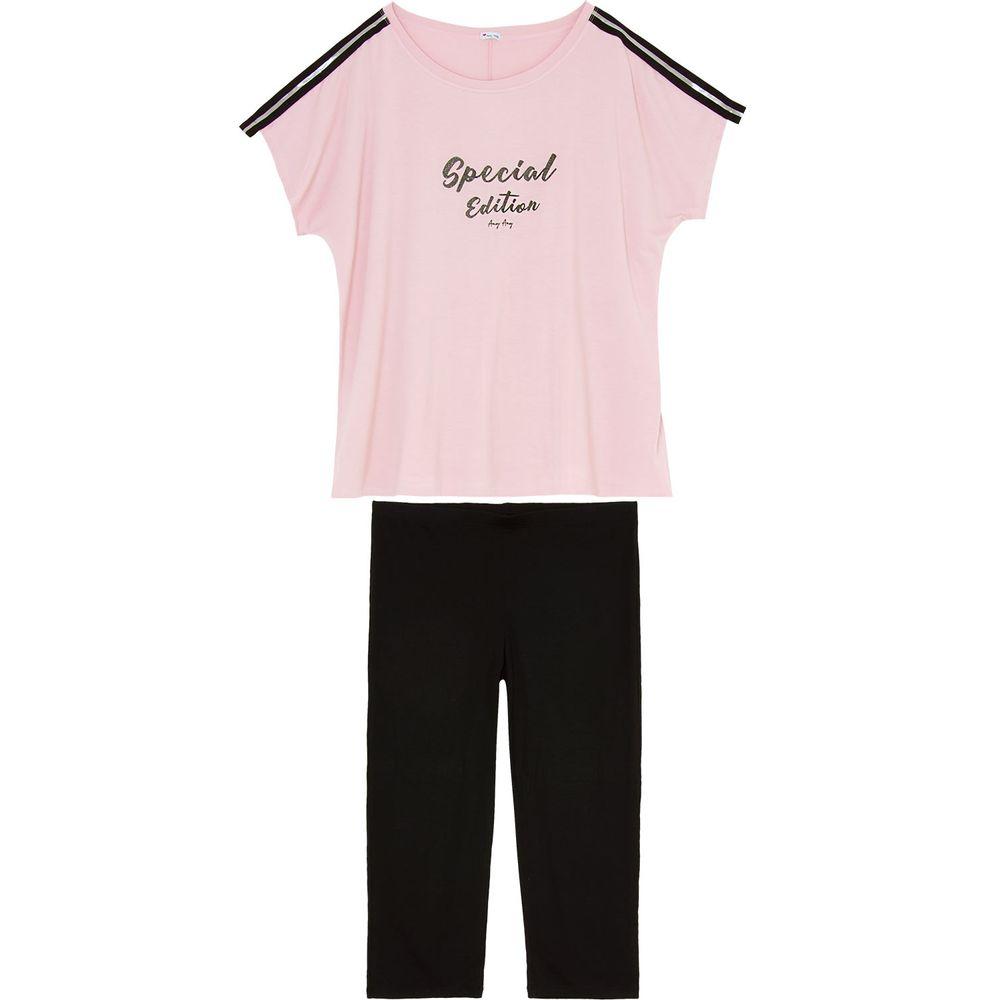 Pijama-Capri-Plus-Size-Any-Any-Viscolycra-Special