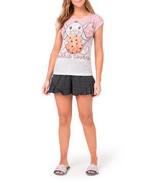 Pijama-Feminino-Curto-Toque-Poliplex-Ratinho-Cookies
