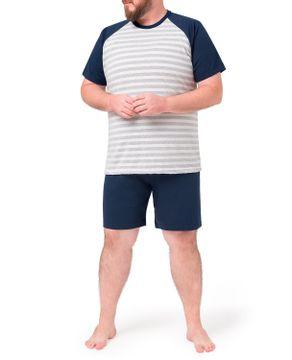 Pijama-Plus-Size-Masculino-Toque-Algodao-Listras