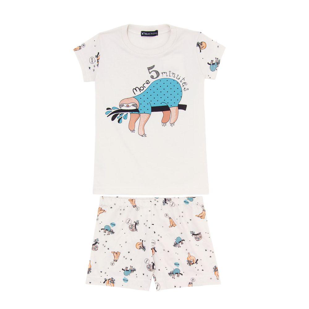 Pijama-Infantil-Feminino-Toque-Algodao-Bicho-Preguica