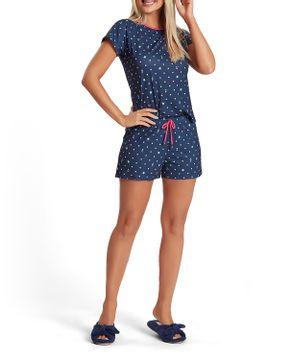 Pijama-Curto-Feminino-Recco-Malha-Touch-Poa