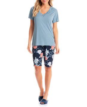 Pijama-Capri-Daniela-Tombini-Microfibra-Floral-Renda