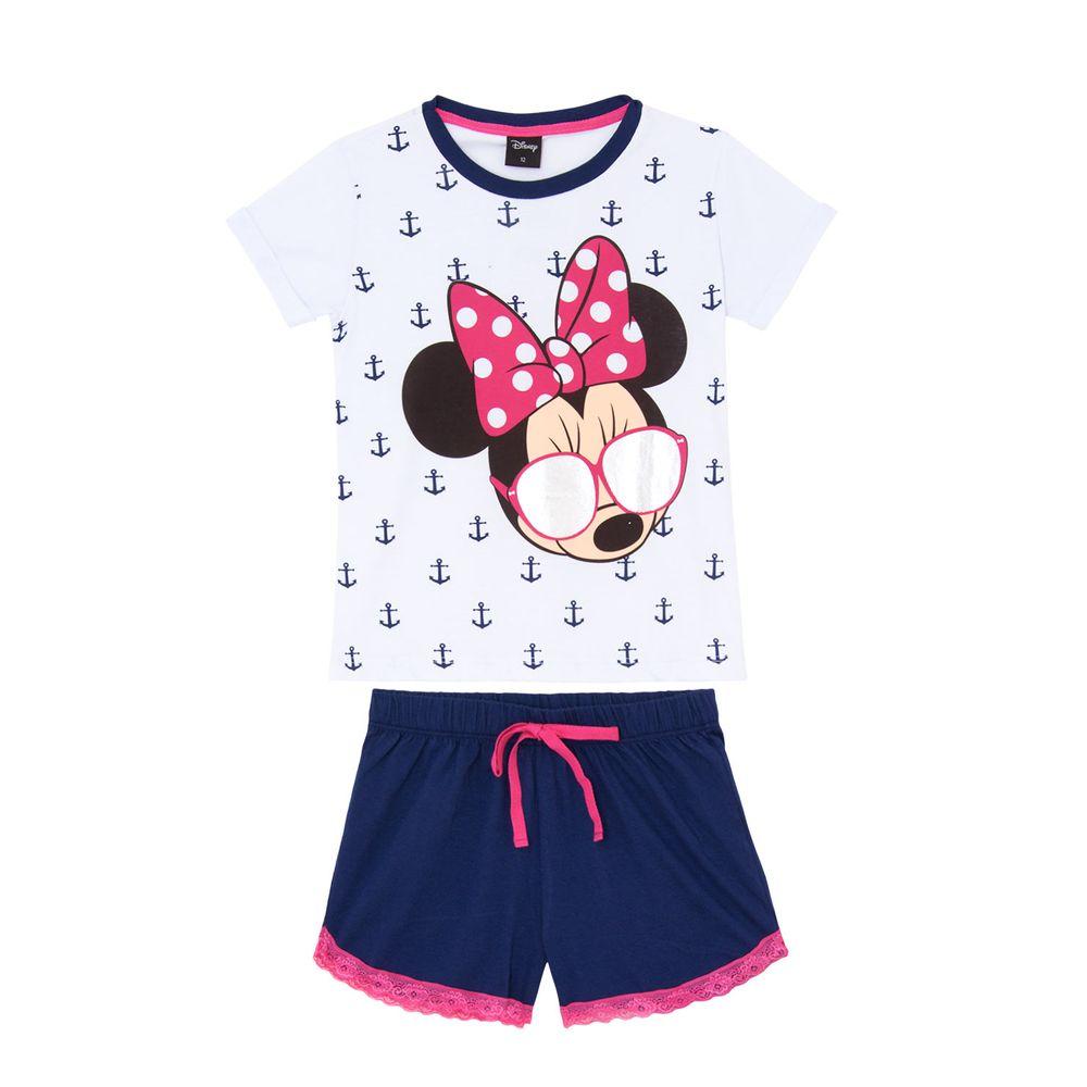 Pijama-Juvenil-Feminino-Disney-Algodao-Minnie-Oculos