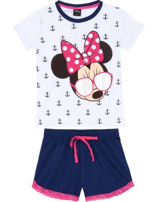 Pijama-Curto-Feminino-Disney-Algodao-Minnie-Oculos