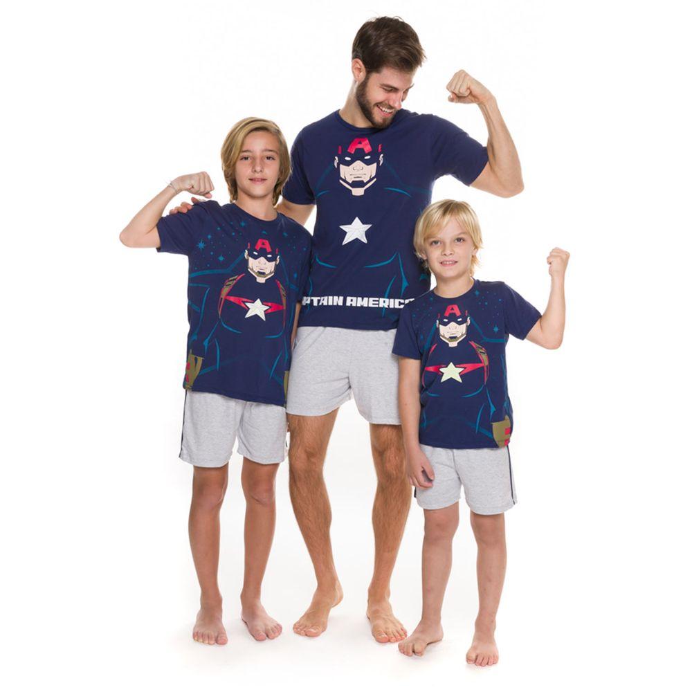 Pijama-Infantil-Masculino-Marvel-Capitao-America-Algodao