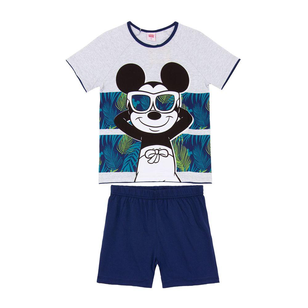 Pijama-Juvenil-Masculino-Disney-Algodao-Mickey-Tropical