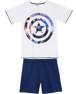 Pijama-Masculino-Marvel-Escudo-Capitao-America