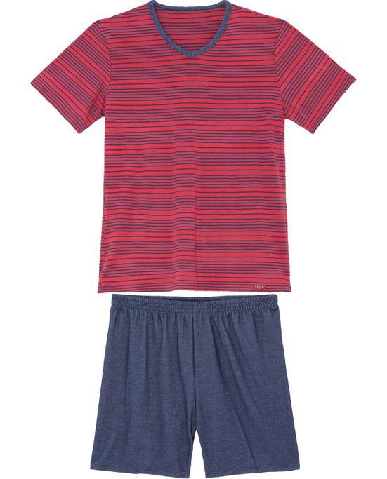 Pijama-Curto-Masculino-Recco-Viscoflex-Listras
