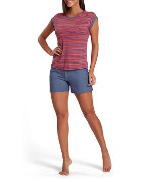 Pijama-Curto-Feminino-Recco-Viscoflex-Listras-Jeans