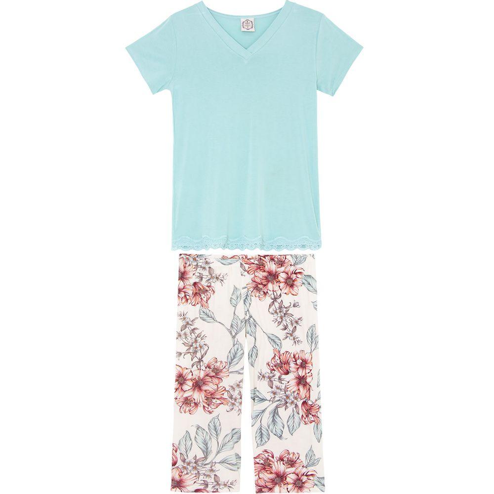 Pijama-Capri-Toque-Viscolycra-Floral