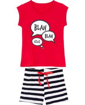Pijama-Curto-Feminino-Kalm-100--Algodao-Listras-Blah
