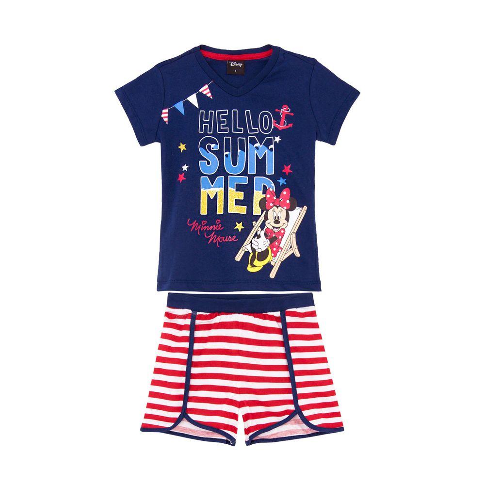 Pijama-Infantil-Feminino-Disney-Algodao-Minnie-Listras