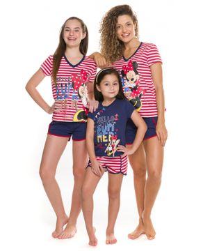 Pijama-Juvenil-Feminino-Disney-Algodao-Minnie-Listras