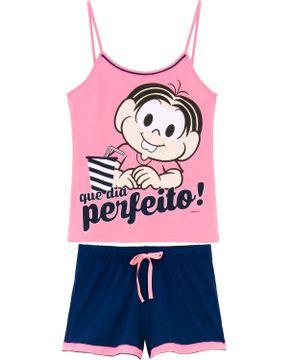 Pijama-Curto-Feminino-Turma-da-Monica-Alca-Milk-Shake
