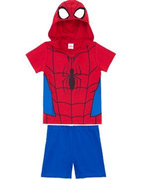 Pijama-Infantil-Masculino-Marvel-Capuz-Homem-Aranha