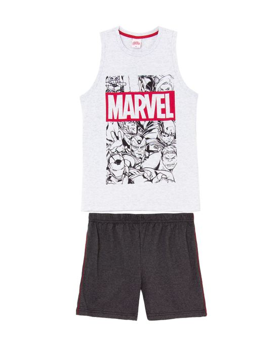 Pijama-Juvenil-Masculino-Marvel-Regata-Algodao-Herois