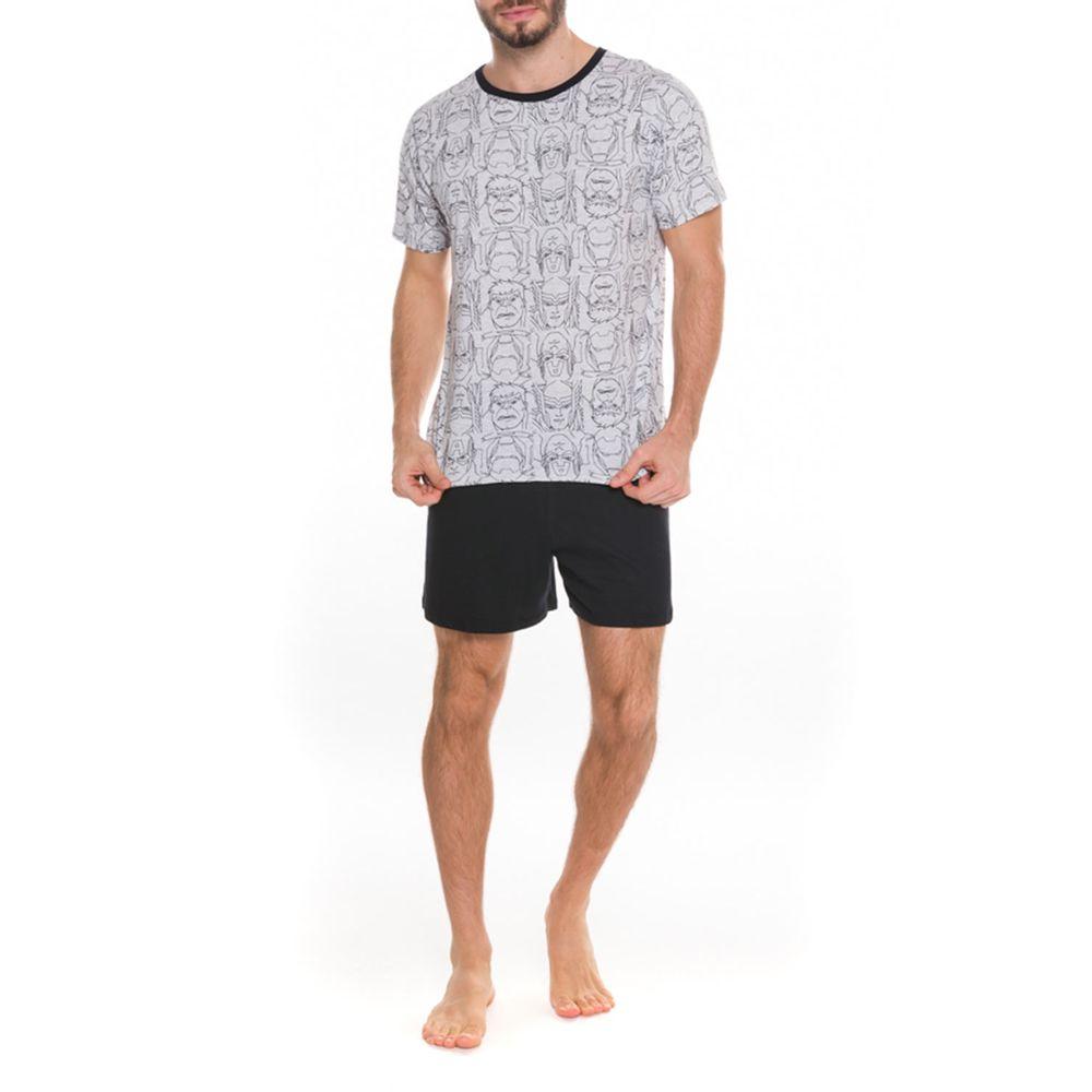 Pijama-Curto-Masculino-Marvel-100--Algodao-Herois