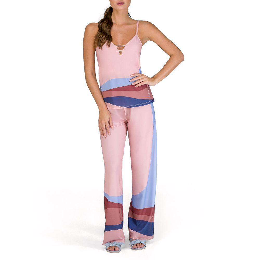 Pijama-Feminino-Lua-Lua-Manga-Curta-e-Calca-Dunas