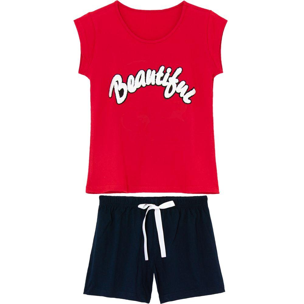Pijama-Curto-Feminino-Kalm-100--Algodao-Beautiful
