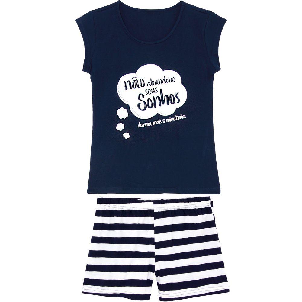Pijama-Curto-Feminino-Kalm-Algodao-Listras-Sonhos