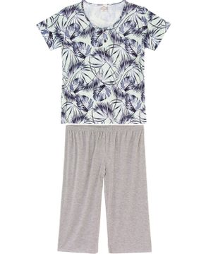 Pijama-Plus-Size-Capri-Toque-Viscolycra-Tropical