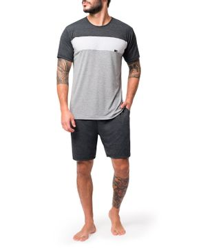 Pijama-Masculino-Curto-Toque-Viscoflex-Recortes