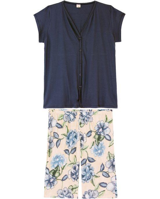 Pijama-Capri-Plus-Size-Lua-Encantada-Aberto-Floral