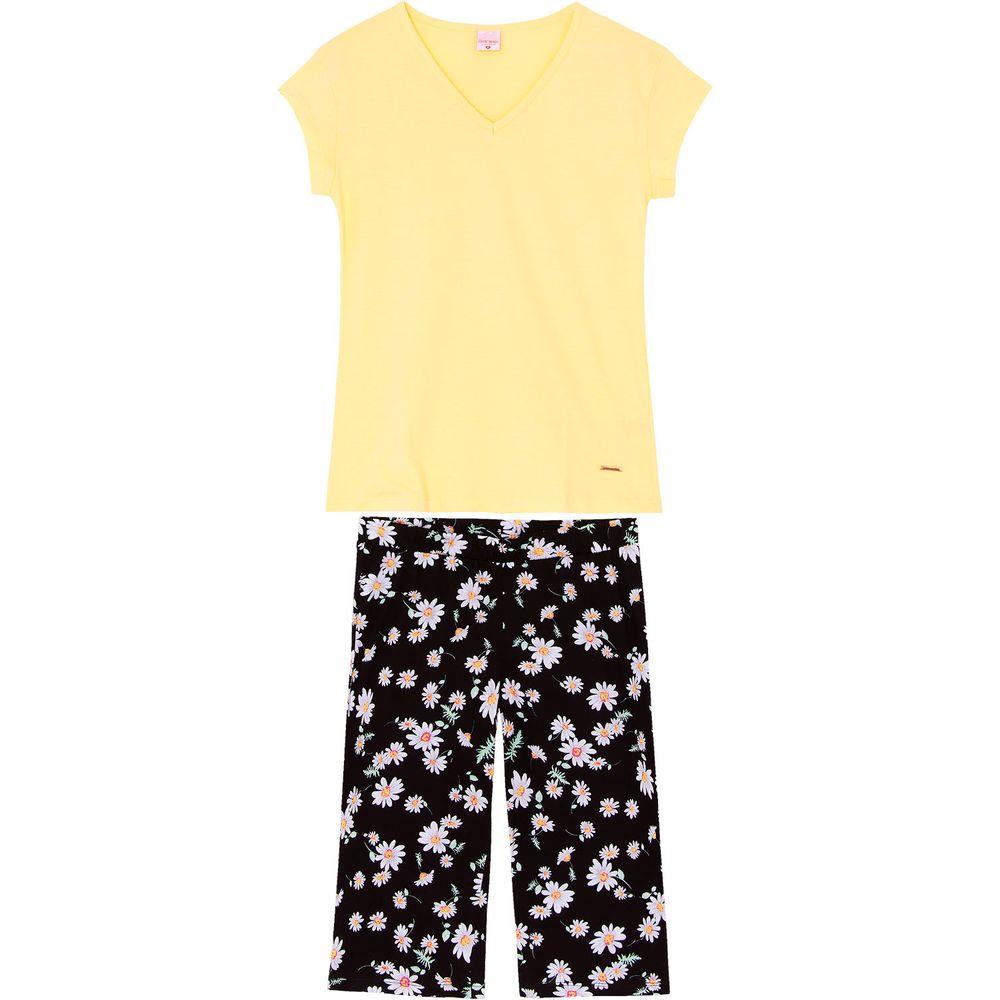 Pijama-Capri-Lua-Encantada-100--Algodao-Floral