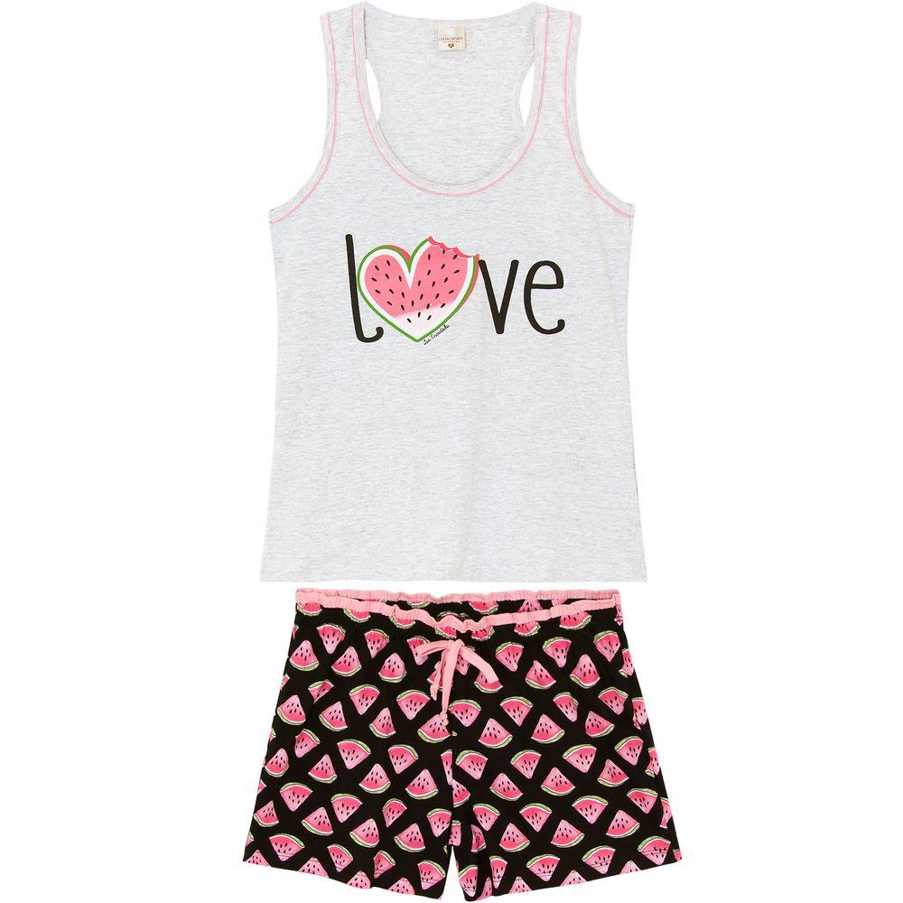 Pijama-Curto-Feminino-Lua-Encantada-Regata-Melancia