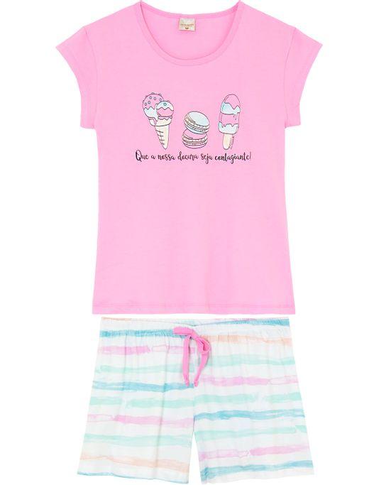 Pijama-Curto-Feminino-Lua-Encantada-Algodao-Sorvetes