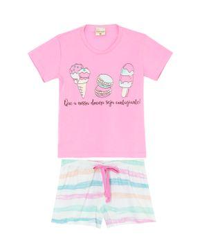 Pijama-Infantil-Feminino-Lua-Encantada-Algodao-Sorvetes