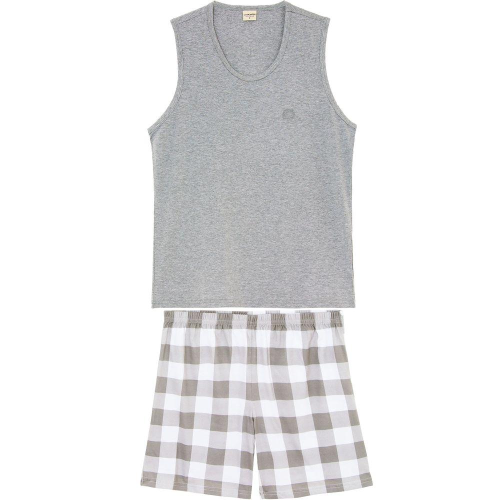 Pijama-Regata-Masculino-Lua-Encantada-Bermuda-Xadrez