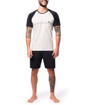 Pijama-Raglan-Masculino-Toque-Bermuda-Algodao