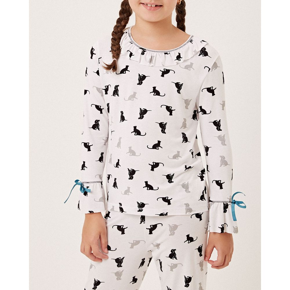 Pijama-Infantil-Feminino-Longo-Joge-Viscolycra-Pets