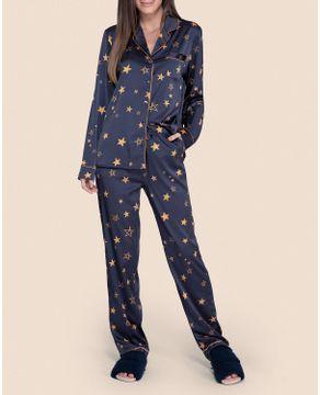 Pijama-Feminino-Aberto-Lua-Lua-Satine-Estrelas
