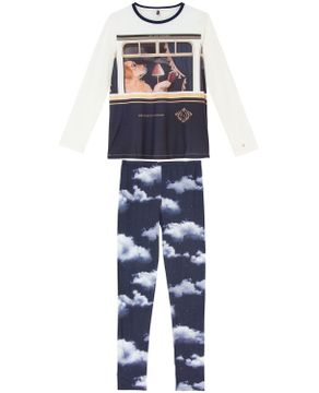Pijama-Feminino-Longo-Lua-Lua-Algodao-Cachorro-Trem