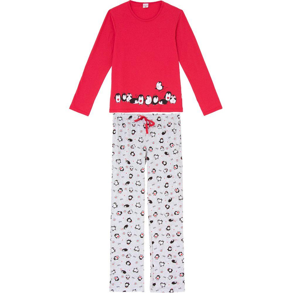 Pijama-Feminino-Longo-Lua-Encantada-Algodao-Pinguim