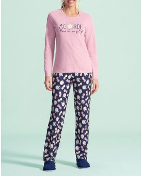 Pijama-Feminino-Lua-Encantada-Algodao-Acordei
