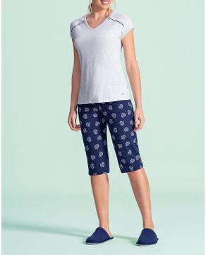 Pijama-Capri-Lua-Encantada-Algodao-Coracao-Diamante