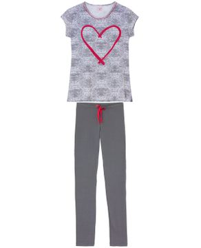Pijama-Legging-Manga-Curta-Lua-Encantada-Tracos