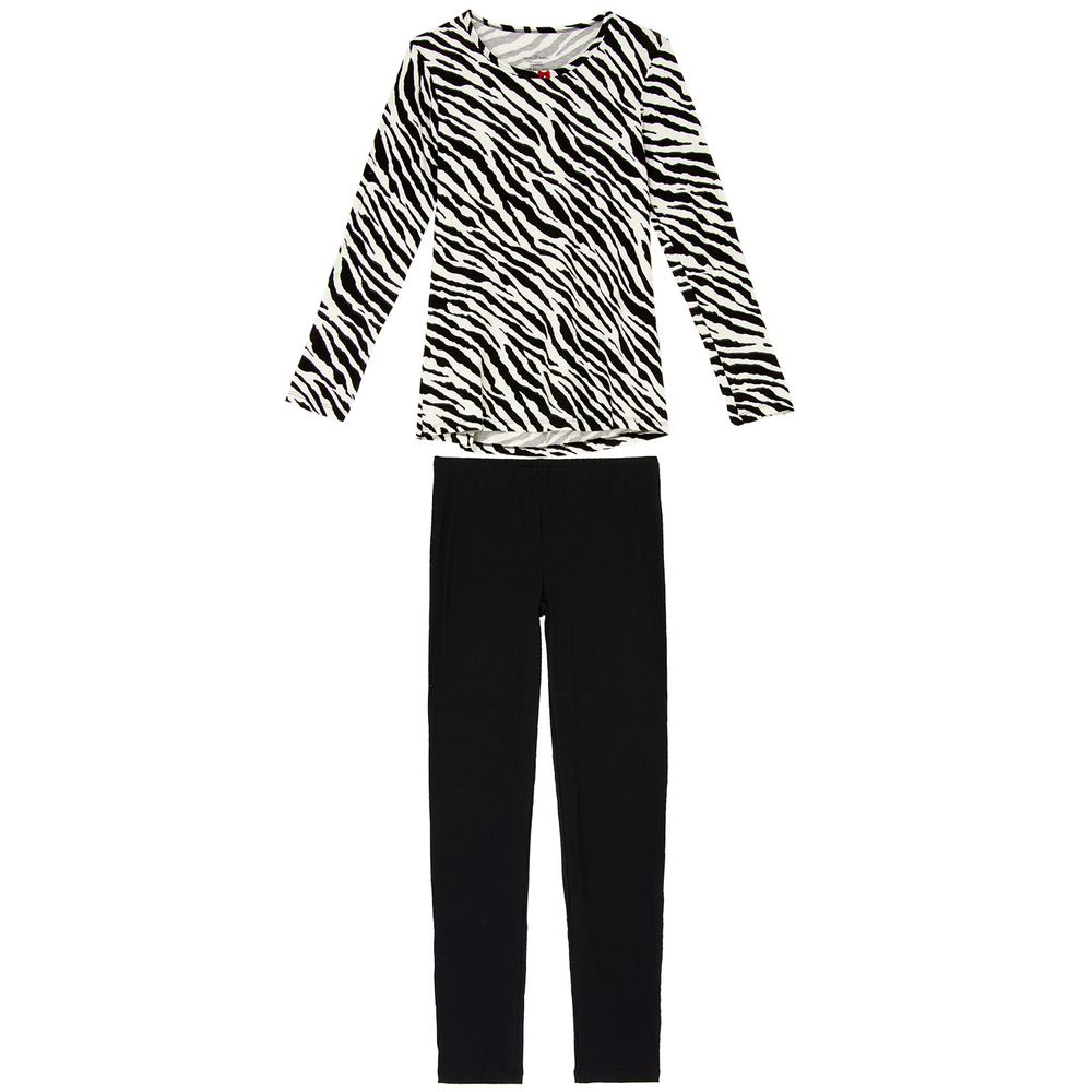 Pijama-Legging-Daniela-Tombini-Viscolycra-Zebra